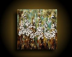 Encaustic Painting Abstract Painting Modern by therawcanvas