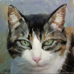 """Daily Paintworks - """"Dilute Calico"""" - Original Fine Art for Sale - © J. Watercolor Cat, Watercolor Animals, Illustrations, Art And Illustration, Fantastic Art, Whimsical Art, Beautiful Cats, Animal Paintings, Dog Art"""