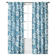 "Boho Boutique™ Taj Reverse Print Window Panel - Blue (42x84"") - idea for room. might be too light"