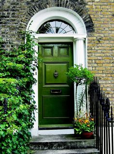 Personalize Your Front Door With Paint Colors - This Old House Cottage Style Doors, Cottage Front Doors, Green Front Doors, Cottage Door, House Front Door, Colored Front Doors, Best Front Doors, Front Door Paint Colors, Painted Front Doors