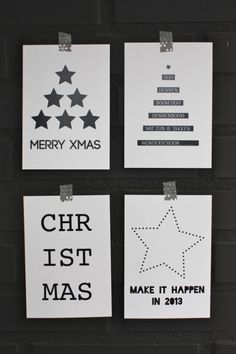 Black and white and nordic christmas - Magazín Noel Christmas, Modern Christmas, Christmas And New Year, Winter Christmas, Christmas Crafts, Thanksgiving Holiday, Xmas Cards, Diy Cards, Deco Dyi