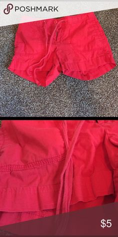 Mid rise red shorts from old navy Super summery cute shorts with drawstring. Got these from a friend but never wore them. No stains tears or rips. Drawstring looks slightly faded Old Navy Shorts Skorts