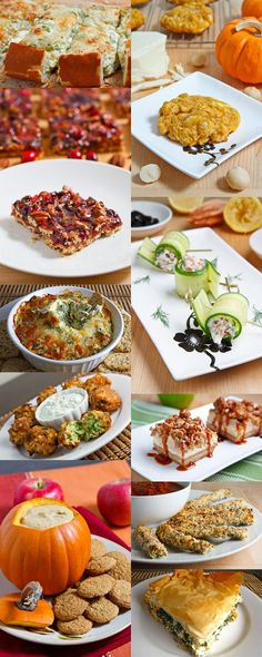 A whole list of Thanksgiving menu ideas from appetizers to sides to main dishes to desserts!
