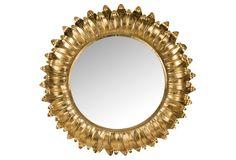 Arles Sunburst Wall Mirror, Gold