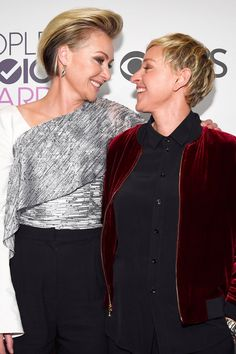 Portia de Rossi Could Not Take Her Eyes Off Ellen DeGeneres at the PCAs