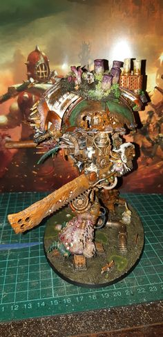 Death Guard Knight Nurgle Quarantine Miniatures Knight, Creepy, Death, Miniatures, Painting, Art, Art Background, Painting Art, Kunst