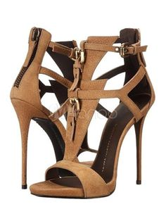 f25b44574da4 Brown Gladiator Sandals High Heel Open Toe Suede Plus Size Stiletto Shoes  For Women