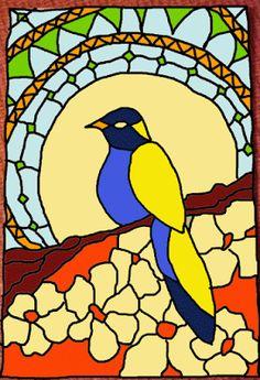 Barcelona Mosaic Workshop: Serie de pájaros: pájaro de mosaico II