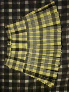Falda escocesa amarilla Yellow Girl Nurseries, Slip On