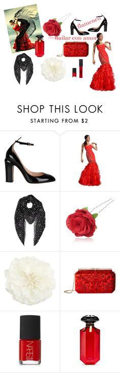 """flamenco nights"" by vincenza-adamo ❤ liked on Polyvore featuring beauty, Valentino, Yves Saint Laurent, Chicnova Fashion, Accessorize, Oscar de la Renta, NARS Cosmetics, Victoria's Secret and Maybelline"