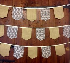 Unique hessian, bunting 34 ft 10 mt Large Medieval banquet flags rustic wedding