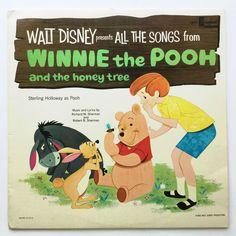 Disney Winnie The Pooh & Honey Tree Soundtrack Vinyl LP Album Disneyland Records #AnimationScoreSoundtrack