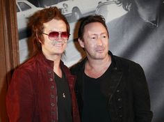 "Glenn Hughes @glenn_hughes and Julian Lennon @ the ""John Varvatos : Rock in Fashion"" book launch celebration in Los Angeles on Nov. 7th, 2013."