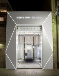 Gallery of philipp plein store / aquilialberg - 5 shop front design, retail facade, Shop Interior Design, Retail Design, Store Design, Design Garage, Shop Front Design, Facade Design, Exterior Design, Retail Facade, Design Food