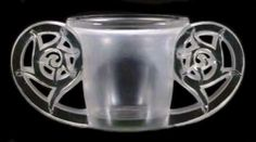 'Pierrefonds, Rene Lalique frosted glass vase.