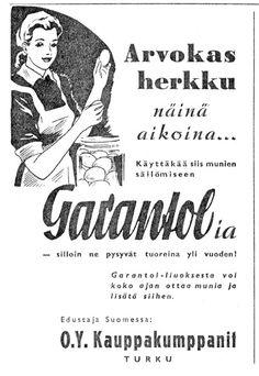 Kotiliesi 44 Pula, Old Ads, Finland, Retro Vintage, Nostalgia, Memories, Nice, Historia, Memoirs