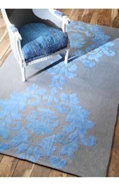 Rugs USA Elegance Cotton and Wool Damask VST25 Blue Rug. Rugs USA $99 Sale! Area rug, rug, carpet, design, style, home decor, interior design, pattern, trends, home, statement, fall,design, autumn, cozy, sale, discount, interiors, house, free shipping, Halloween, fall decorations, fall crafts, fall décor, great winter, winter, warm, furniture, chair, art.