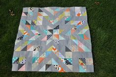 Star Quilt top by maddieandme1, via Flickr -- use #AccuQuilt dies to cut the shapes for this project at www.accuquilt.com!