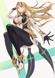 Mythra by Duu Female Character Concept, Character Art, Disney Marvel, Female Characters, Anime Characters, Xeno Series, Manga Anime, Anime Art, Xenoblade Chronicles 2