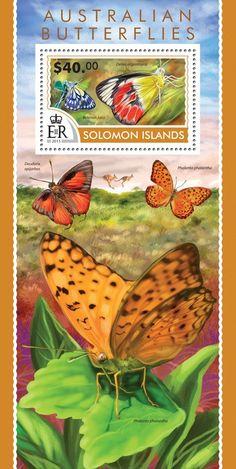 Post stamp Solomon Islands SLM 15201 bAustralian butterflies (Delias argenthona, Belenois java)