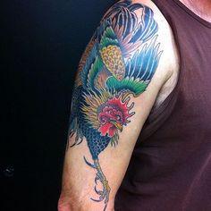 Rooster by Honest Jon @honest_jon_ #slavetotheneedle
