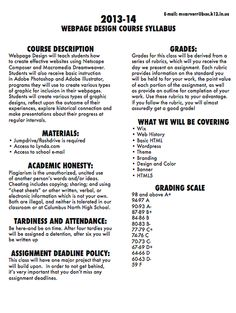 Syllabus middle curriculum and science for Create a syllabus template