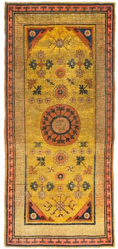 """Khotan, Mansour Rug, 40""""W x 88""""L SO happy looking at this."""