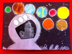 Explore space with pastel planets and turn your child into an astronaut. Space Preschool, Space Activities, Preschool Activities, Space Projects, Space Crafts, Art Projects, Astronaut Craft, Space Solar System, Art For Kids