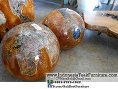 TAR 14 Teak Wood Balls Resin Acrylic Bali Indonesia