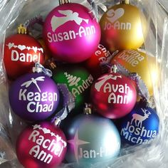 What a colourful #Christmas #Family 🤶🎄 #NamasteBaubles #NamasteVinyl #Baubles #NamasteProducts www.namaste.co.za/baubles Namaste, Christmas Bulbs, Holiday Decor, Shop, Color, Products, Christmas Light Bulbs, Colour, Gadget