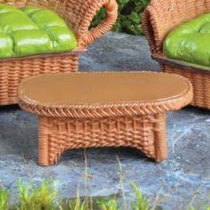 Brown Wicker Table - efairies.com