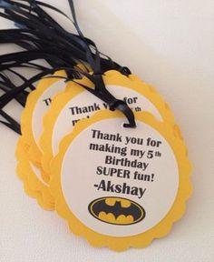 Batman favor tags batman tags por NiuDesigns en Etsy