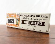 Running medal holder - runners medal rack - race medal holder - race bib holder - gifts for runners - running gifts - running medal display by StrutYourStuffSignCo on Etsy