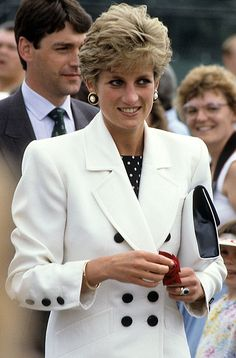 July 1, 1991: Princess Diana at the opening ceremony of the 1991 Federation Cup at Nottingham.