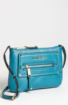 MICHAEL Michael Kors 'Gilmore' Crossbody Bag available at #Nordstrom    Love the turquoise color!