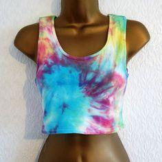 New Tie Dye Bandeau Bralet Crop Top T-Shirt Vest  Hipster Ibiza Retro 8/10 Tie Dye Crop Top, Tie And Dye, Ibiza, Tie Dye Shirts, T Shirt Vest, Bandeau, Outfit Goals, Pride, Hipster