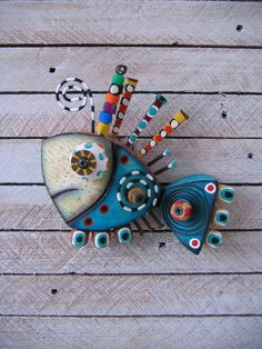 Twisted Fish 116 Found Object Wall Art by Fig Jam by FigJamStudio, $65.00