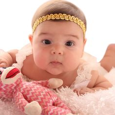Gold Headband Baby Gold Headband Newborn Gold by AllBabyGirls Baptism Headband, Halo Headband, Headband Baby, Toddler Headbands, Newborn Headbands, First World, Infant, Christmas Headbands, Halo 3