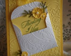 Any Occasion Handmade Multi Paper Layered Greet - Quilling Ideas Cute Cards, Diy Cards, Your Cards, Tarjetas Stampin Up, Stampin Up Cards, Fancy Fold Cards, Folded Cards, Handmade Birthday Cards, Greeting Cards Handmade