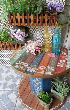 Mesas personalizadas con pintura