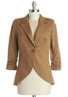 ModCloth - ModCloth Fine and Sandy Blazer in Camel in S - AdoreWe.com