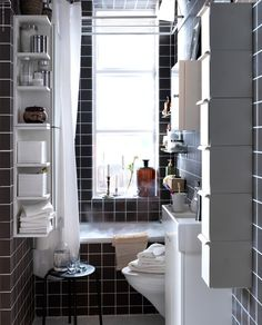 Inspiration for small bathrooms from Ikea.
