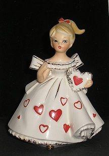 Vintage Napco Napcoware Valentine Girl Planter Ceramic Japan C6636   eBay