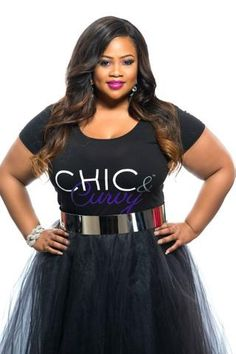 b79e82cbb0f Final Sale Plus Size Chic And Curvy  T-Shirt in Black and Purple Plus