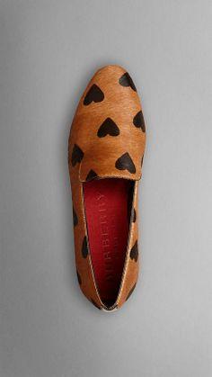 Heart Print Calfskin Loafers - Burberry. Just stop.