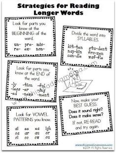 Strategies for learning longer words