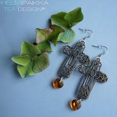 Antiikkipronssi ristikorvikset Crosses, Belly Button Rings, Drop Earrings, Jewelry, Jewlery, Jewerly, Schmuck, Drop Earring, Jewels