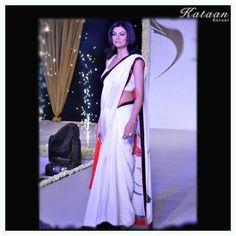 #Sushmita Sen in a elegant yet simple White saree