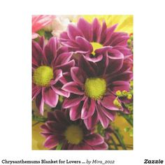Chrysanthemums Blanket for Lovers of Flowers - birthday gifts party celebration custom gift ideas diy Get Well Gifts, Cool Gifts, Gifts For Beer Lovers, Birthday Gifts, Birthday Diy, Chrysanthemums, Gifts For Coworkers, Customized Gifts, Design Art
