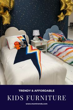 Trendy and affordable kids furniture. Lego Bedroom, Kids Bedroom, Bedroom Ideas, Back To School Lunch Ideas, Cool Kids Rooms, Kura Bed, Kid Desk, Furniture Ads, Shared Rooms